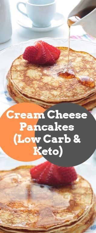 Cream Cheese Pancakes (Low Carb & Keto)
