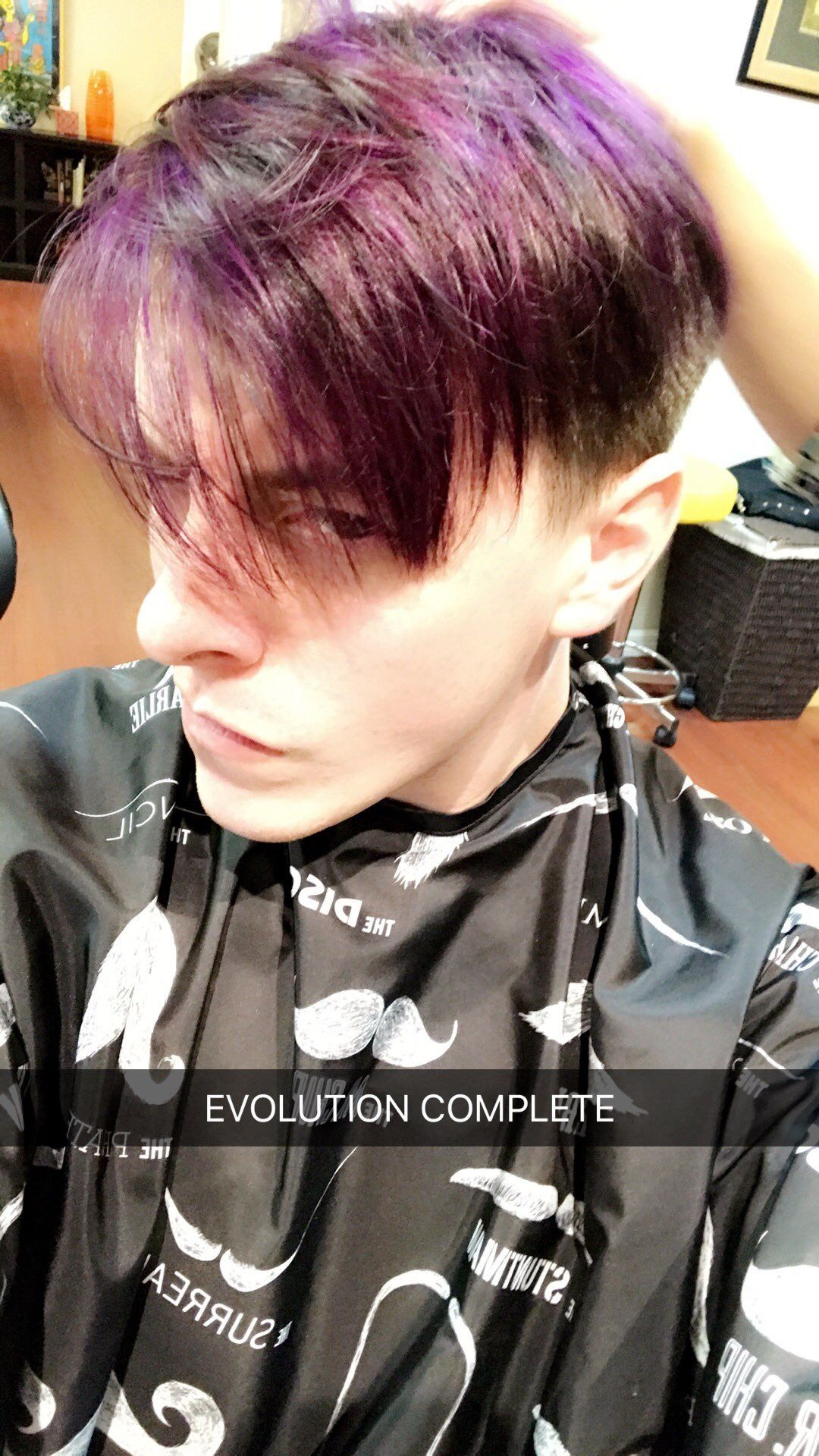 Thomas dyed his hair purple!!! << this pic screams virgil
