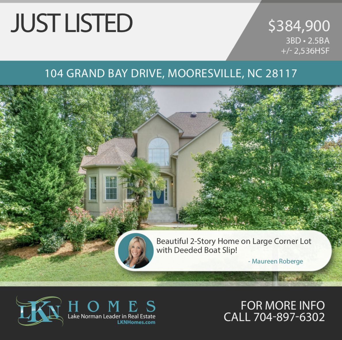 Just listed with a deeded boat slip with images grand