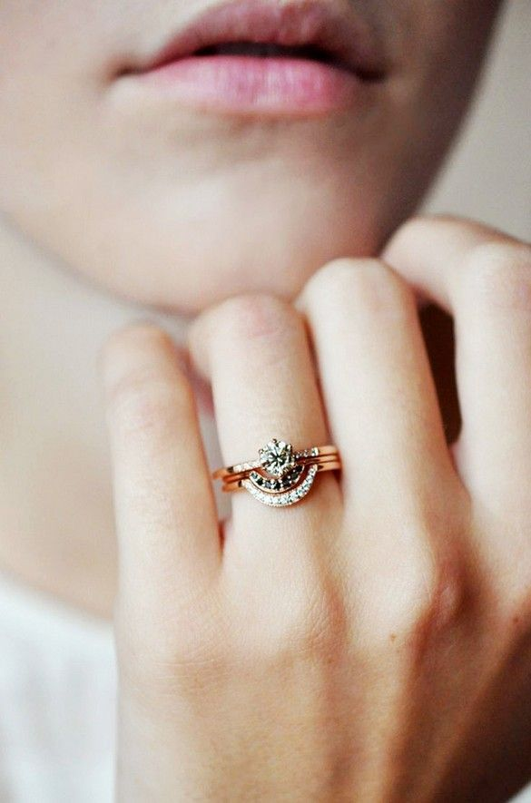 19 Engagement Rings You Ll Want To Wear Forever Stacked Wedding Rings Gorgeous Engagement Ring Wedding Rings
