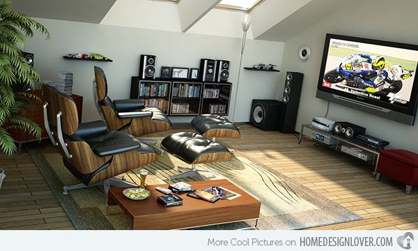 15 Well Designed Living Spaces In The Attic Home Entertainment