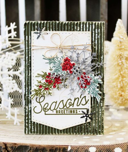 PTI Silver White Winters + Beautiful Berries Winter card by Melissa