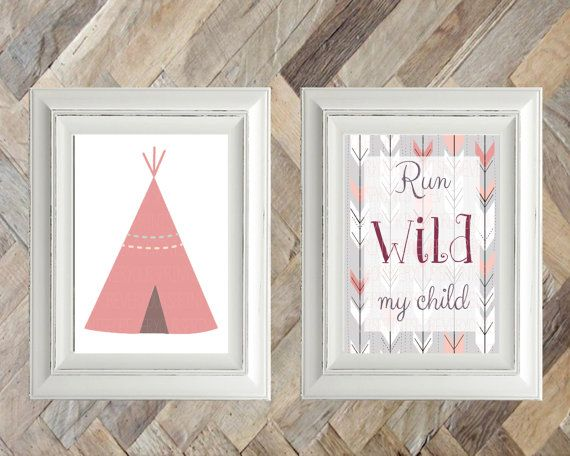 Nursery Wall Art, Baby Room, Kids Room, Decor, Wall Art, Digital Print, Instant Download, Rustic, Country, Western, TeePee, Explore, Wild