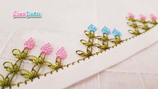 İğne Oyası Üç Kanatlı Yatık Çiçek Modeli Yapımı Türkçe Videolu