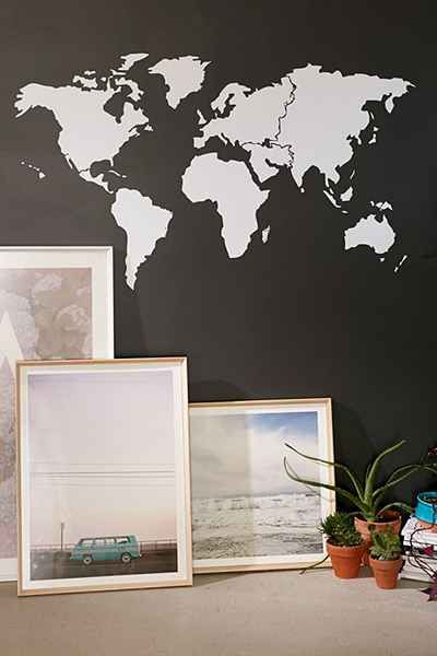 Walls need love world map wall decal wall decals walls and spaces walls need love world map wall decal urban outfitters for my dorm possibly gumiabroncs Image collections