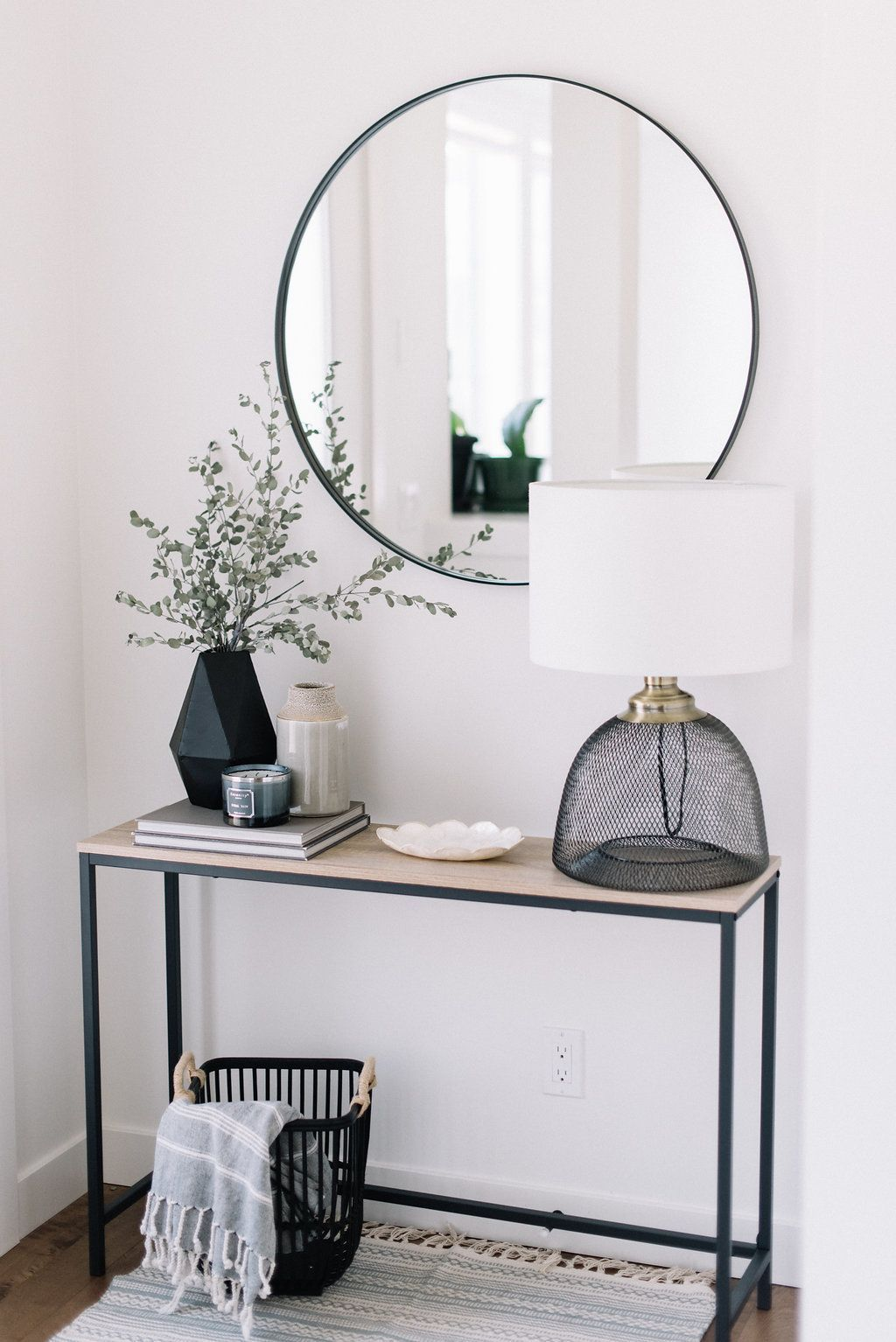 Modern Entryway Table Ideas Round Mirrors Explored On Pinterest See More About Small