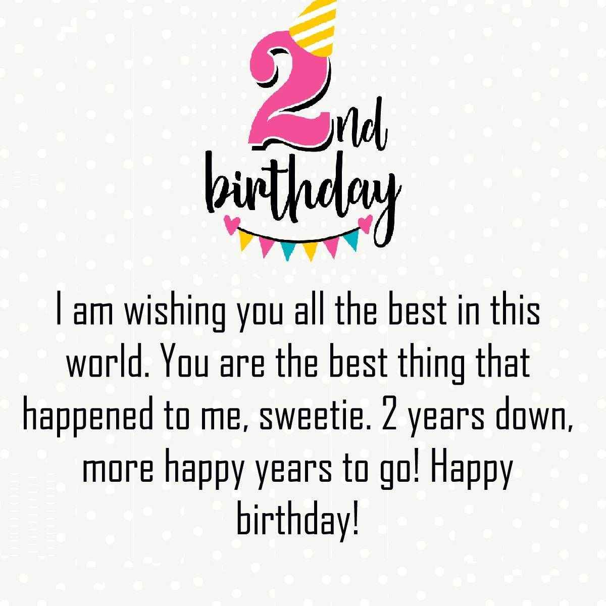 Happy Second Birthday Wishes Image | Happy 2nd Birthday Quotes