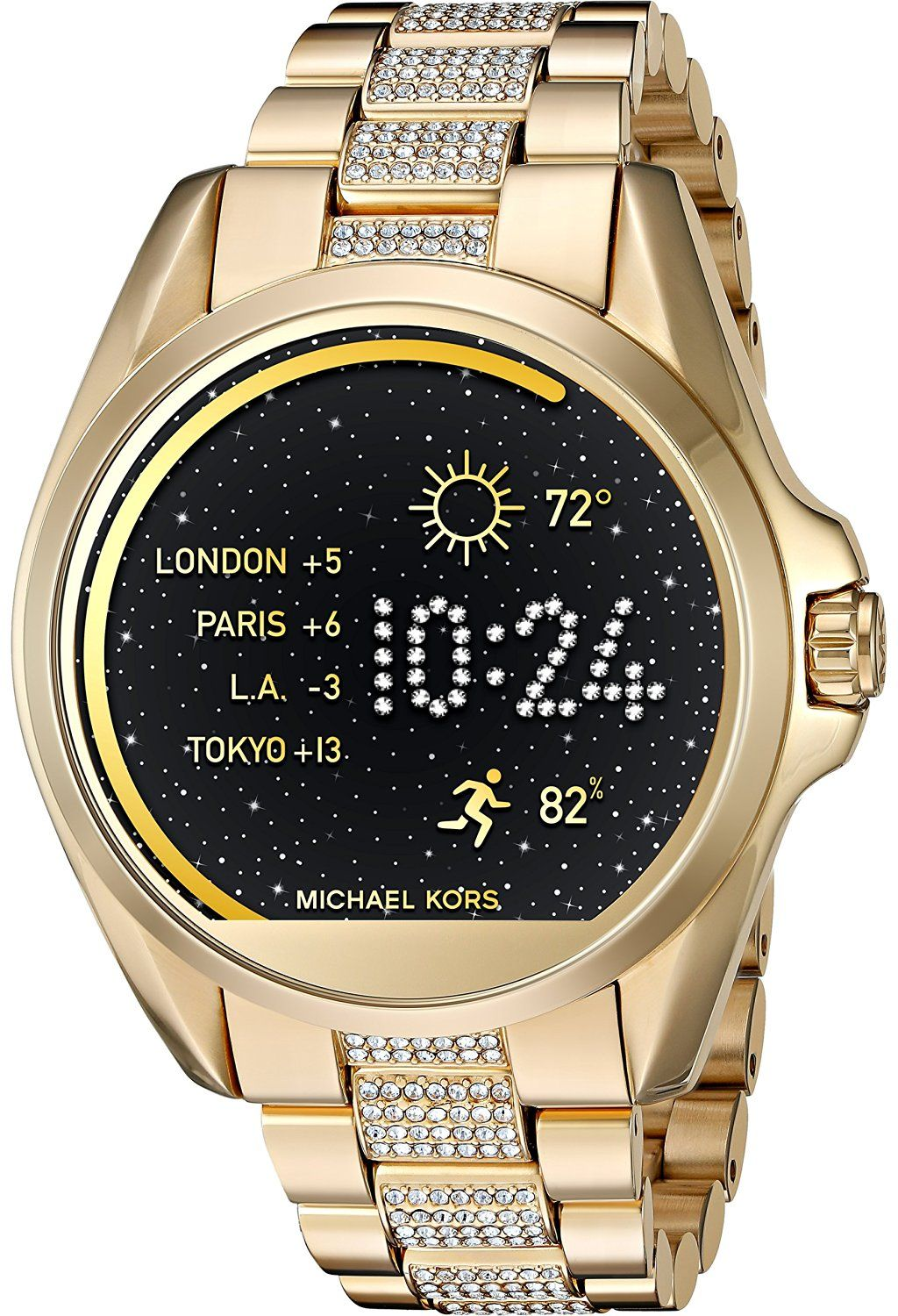 5896f63b757a Michael Kors Access Touch Screen Gold Bradshaw Smartwatch MKT5002 ...