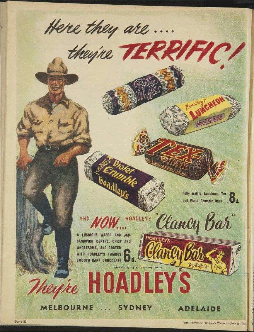 Hoadley's ~ Australia 1957. | Vintage advertising art ...