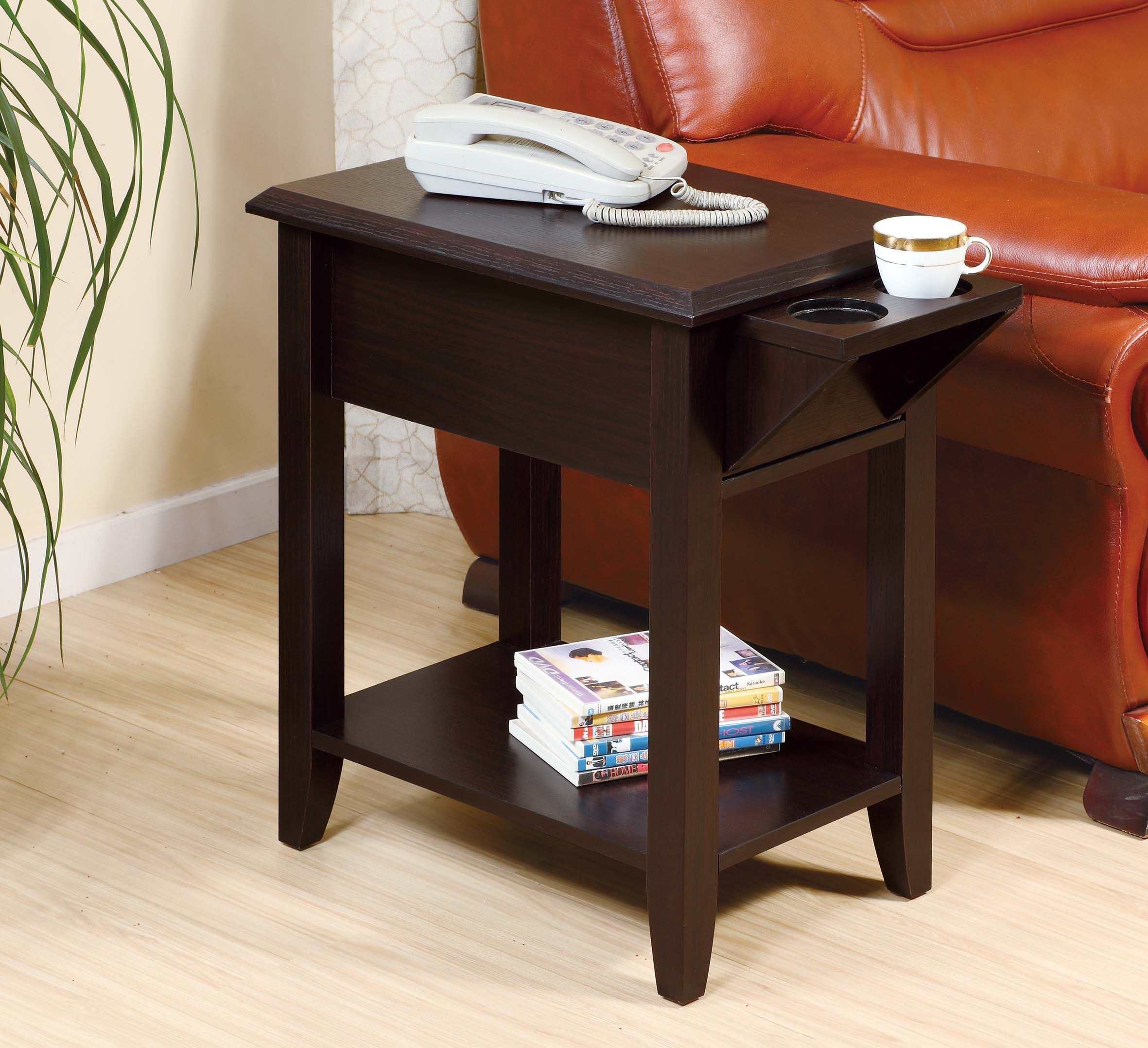 16802 Chairside Table Smart Home Cup Holder Display Stand Features An All Around