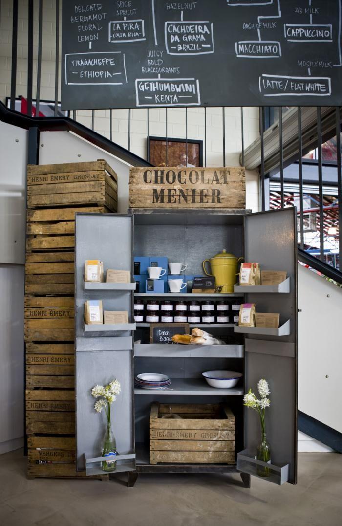 industrial pantry  Market Lane Coffee in Melbourne : Remodelista