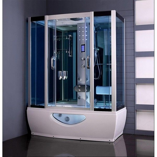 Aquaplus 1650mm X 800mm Steam Shower Cabin With Whirlpool