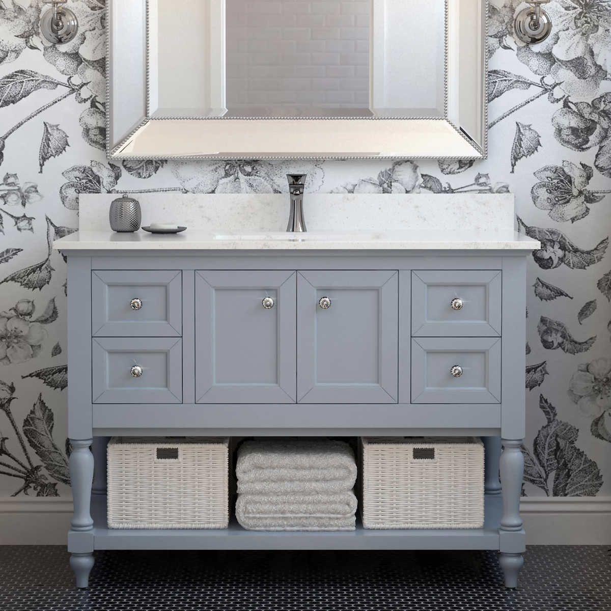 Studio Bathe Taylor 48 in Vanity with Diamond Quartz