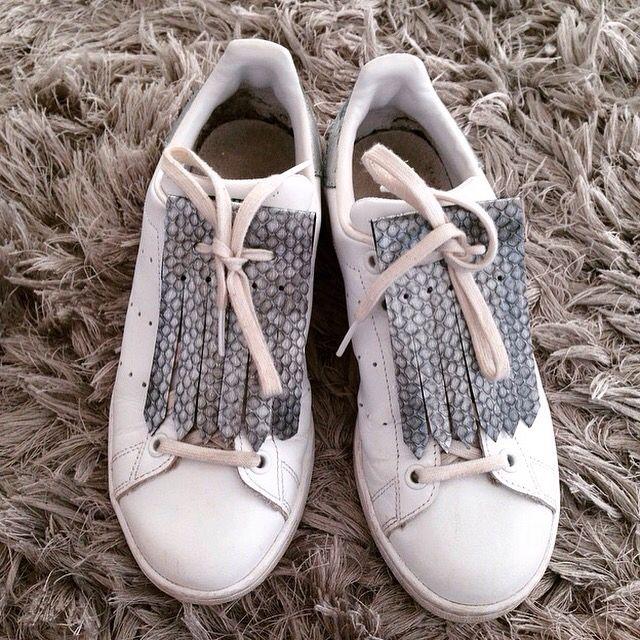 Franges amovibles pour chaussures #fringes#franges#languettes#stansmith#stan#adidas#custo#cuir#tendance Pimpyourfringe.tictail.com