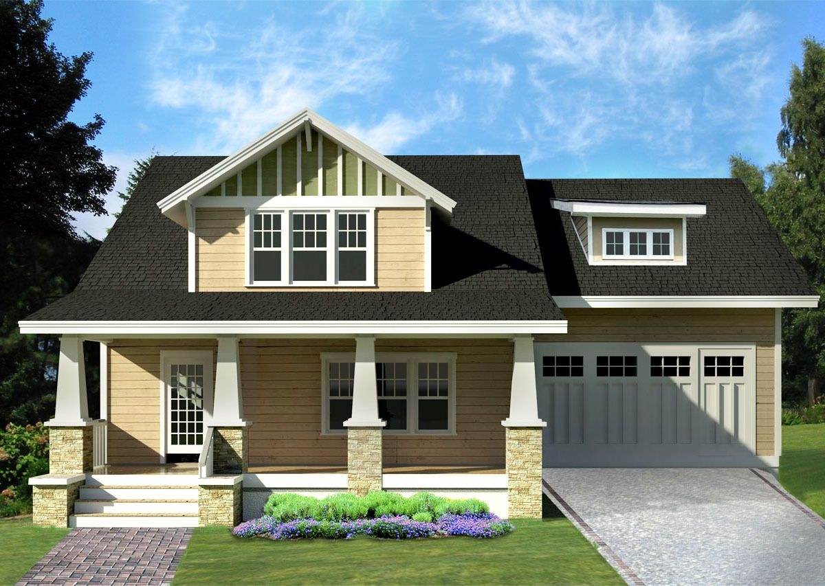 A Craftsman Bungalow Cottage I Did It All 3 Styles In: Arts & Crafts Bungalow House Plan