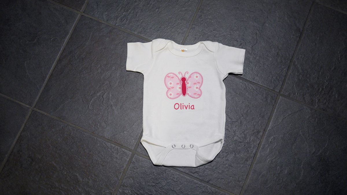 This beautiful embroidered butterfly onesie is so adorable and would this beautiful embroidered butterfly onesie is so adorable and would like great on a newborn baby personalized baby giftsunique negle Choice Image