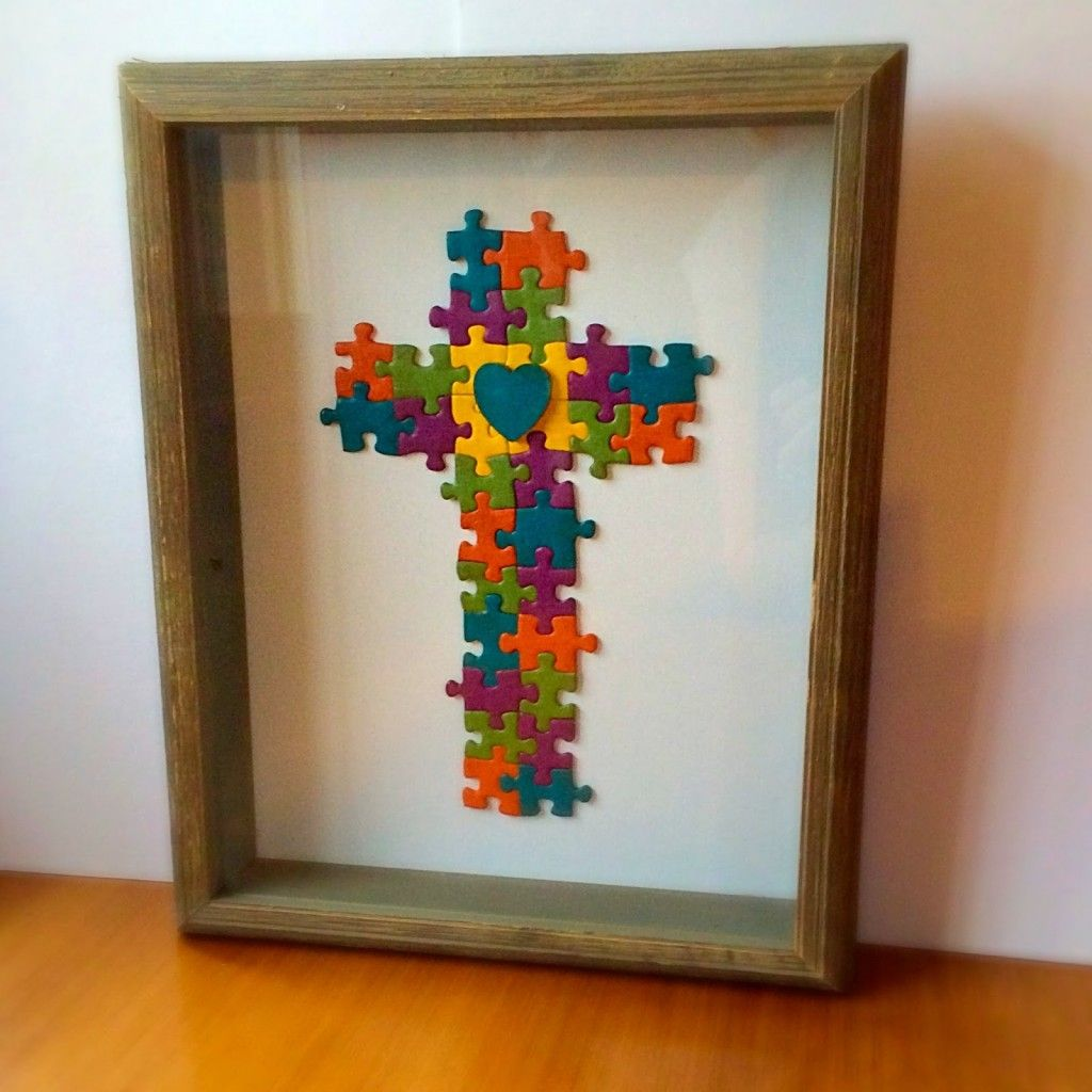 Puzzle Piece Art | Puzzle pieces, Puzzle piece crafts and Craft things