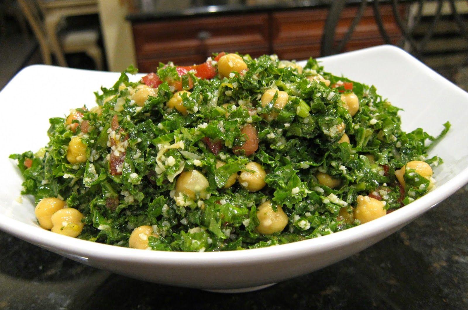 Kale and Chickpea Salad Chickpea salad recipes, Salad