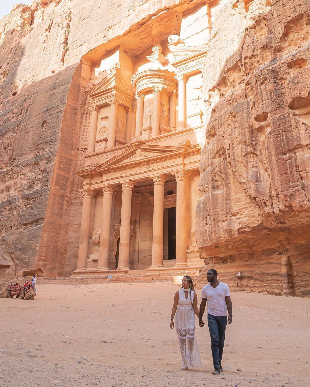 Lj Mj Travel Couple On Instagram Petra One Of The New Seven Wonders Of The World Petra Was Europe Travel Accessories Travel Couple Travel Aesthetic