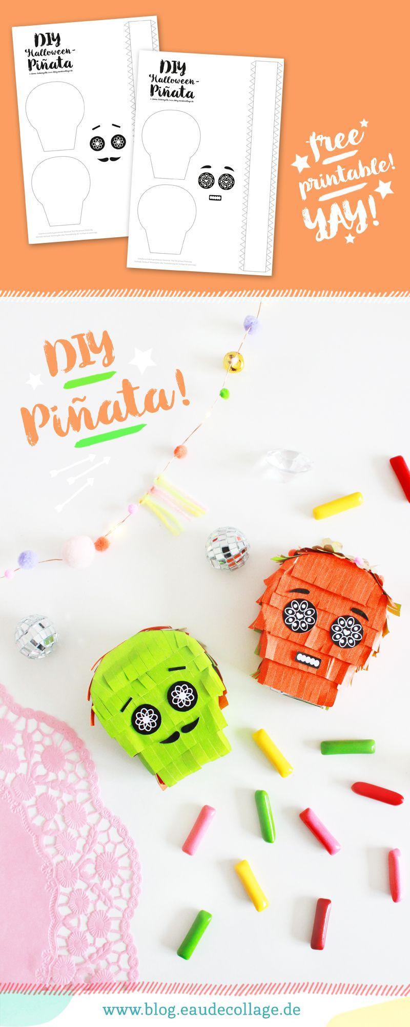 Halloween Basteln Teenager.Diy Halloween Pinata Basteln Sugar Skull Free Printable Diy Blog Halloween Selber Machen Kleine Geschenke Freundin Basteln Mit Teenager