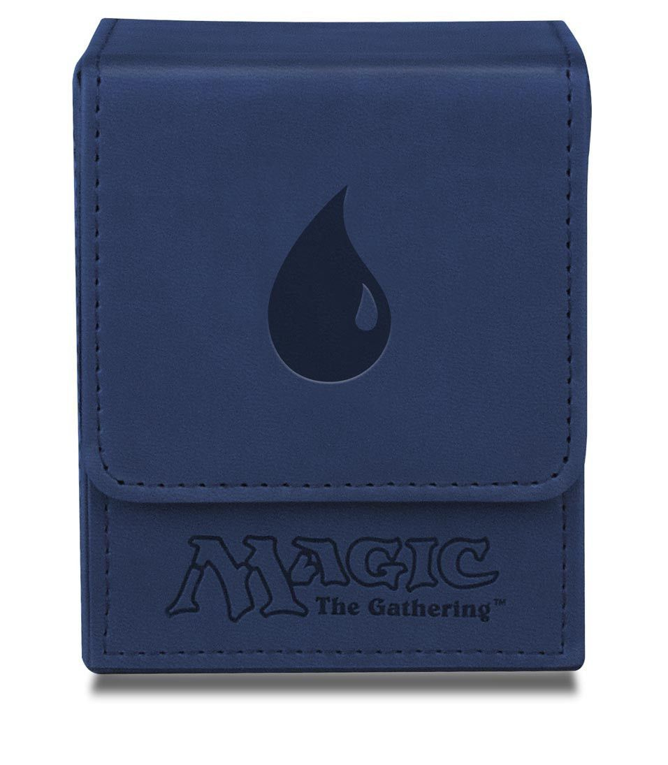 Deck box magic the gathering mana flip box blue stuff to buy magic the gathering mana flip box blue leatherette matte material with debossed mana symbol holds 100 collectible cards in ultra pro deck protector biocorpaavc