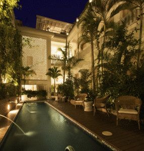 Nighttime At The Chic Casablanca Hotel Weekend Escape To Cartagena