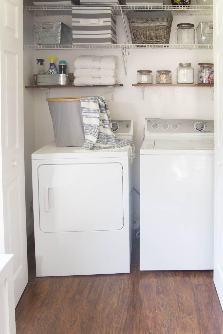 Laundry Closet Organization Ideas Part - 23: Beautifully Organized Small Laundry Rooms