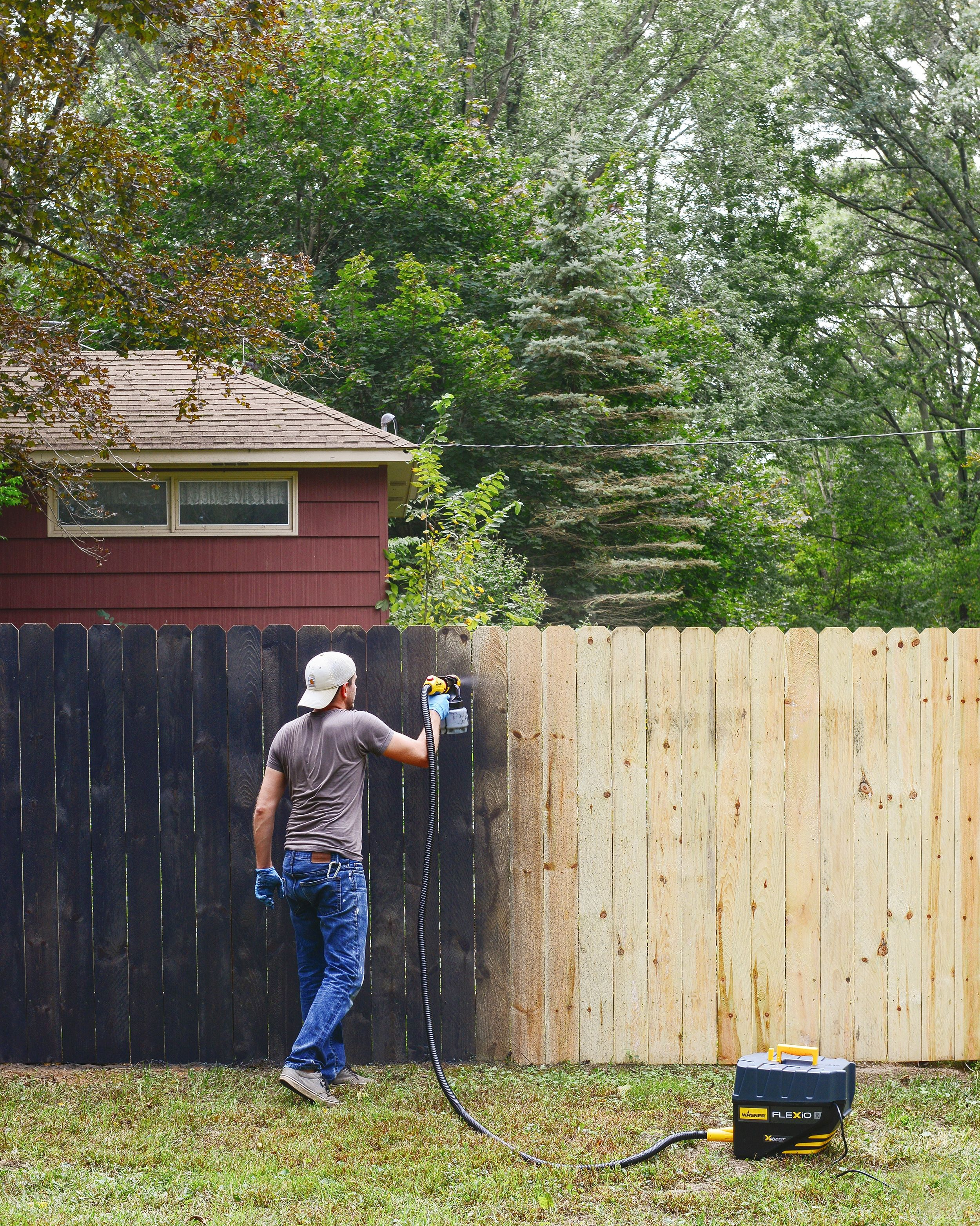How To Paint Anything Our Painting Tips And Tricks Backyard Fences Fence Paint Painted Wood Fence