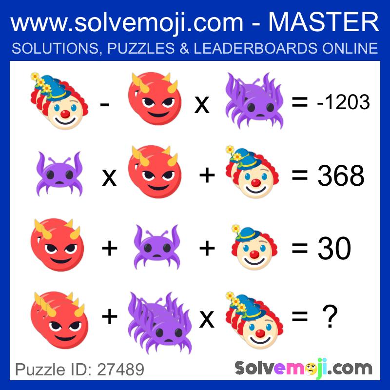 Emoji math puzzles, can you solve it? in 2020 Emoji math