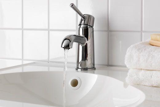 ikea badarmaturen und waschtischarmaturen wie z b gransk r mischbatterie waschbecken verchromt. Black Bedroom Furniture Sets. Home Design Ideas