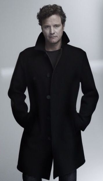 Colin Firth wearing a Black Cashmere Coat (unlined   unstructured), by Tom  Ford, Mens Fall Winter Fashion. 07eb8b1b2c44