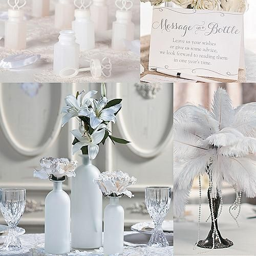 I like the bottle vases paper flowers can be used for these wedding colors wedding shop by color wedding color trends junglespirit Choice Image