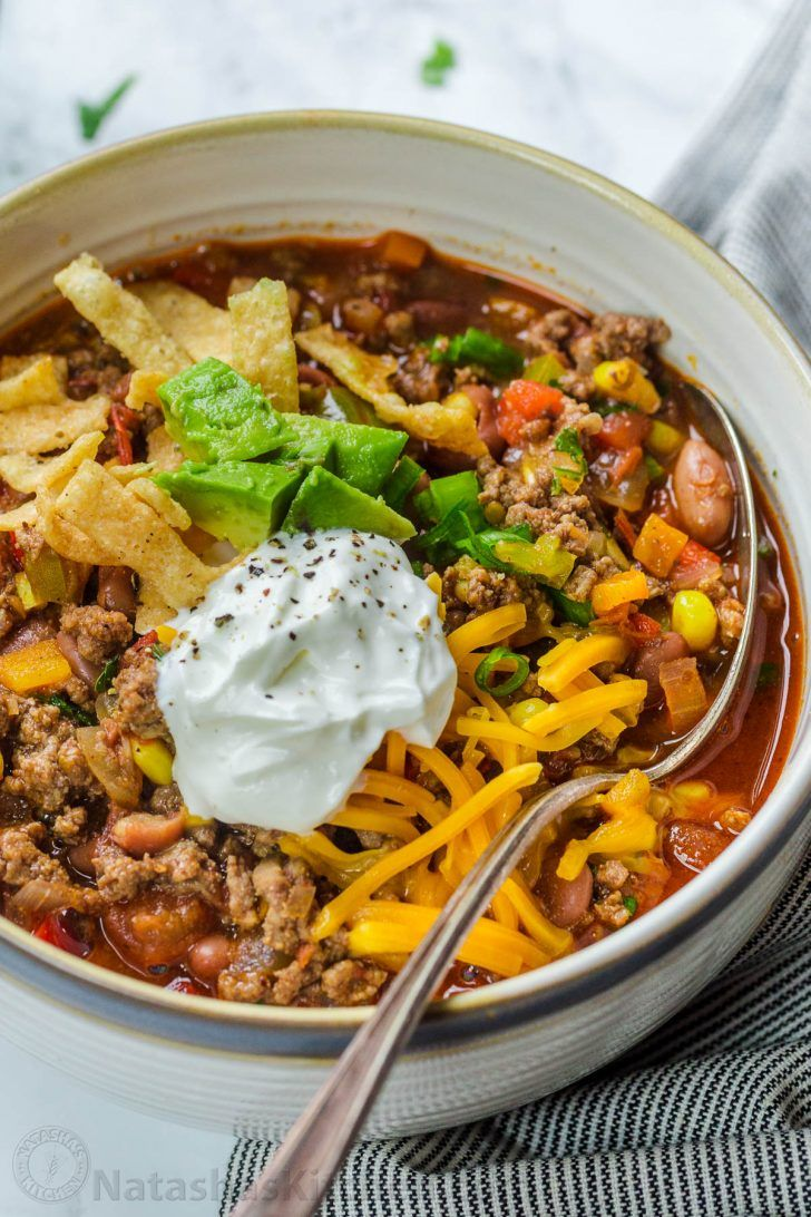 Easy Taco Soup Recipe - NatashasKitchen.com