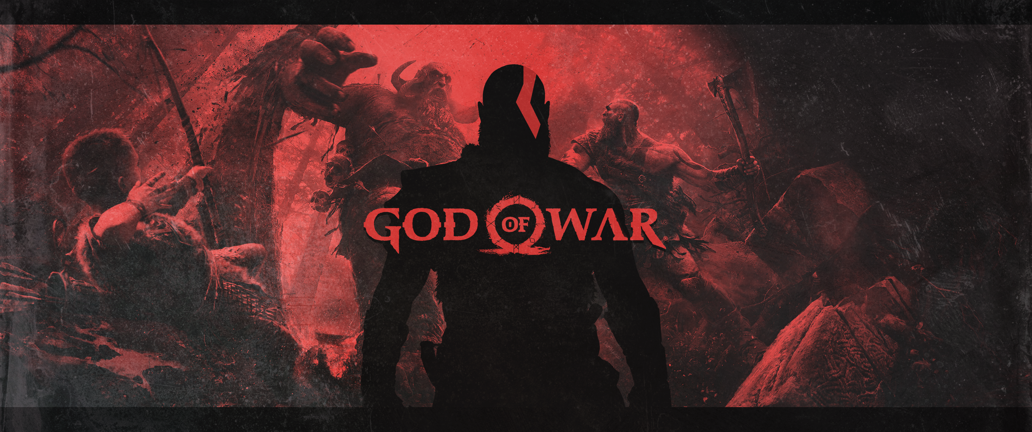 God Of War 4 3440x1440 Art Dessin Illustration