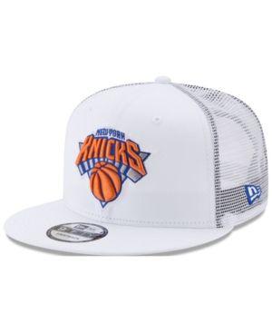 New Era New York Knicks Summer Time Mesh 9fifty Snapback Cap White Adjustable Mens Golf Fashion Mens Fashion Swag Snapback