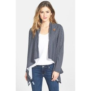 Women's Bobeau One-Button Print Fleece Cardigan | Abigail board ...