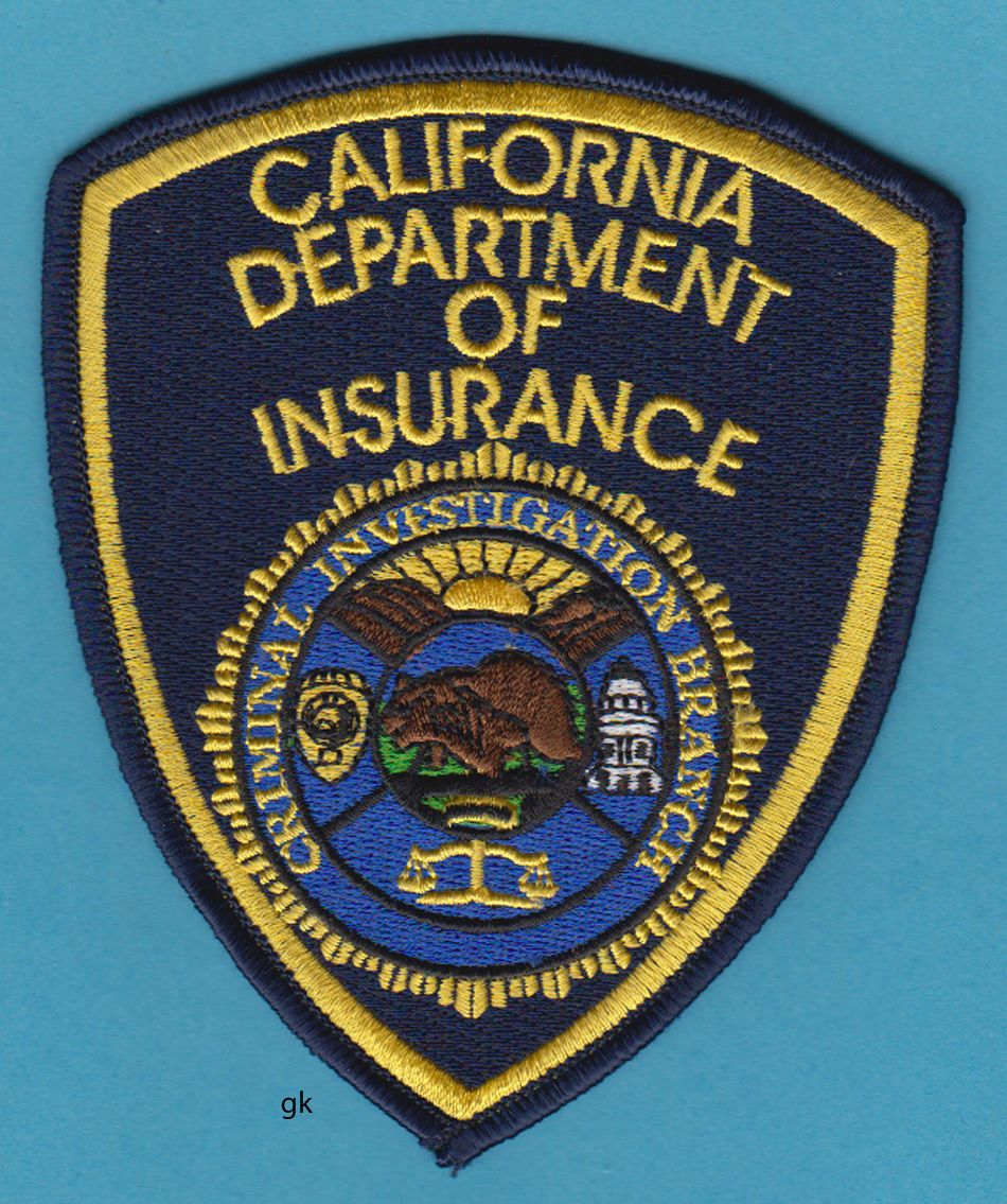 8 California Department Of Insurance Police Shoulder Patch
