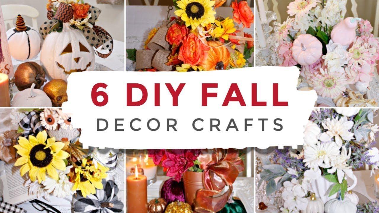 6 Fall Styles Diy Dollar Tree Decor Crafts 2019 I Love Fall
