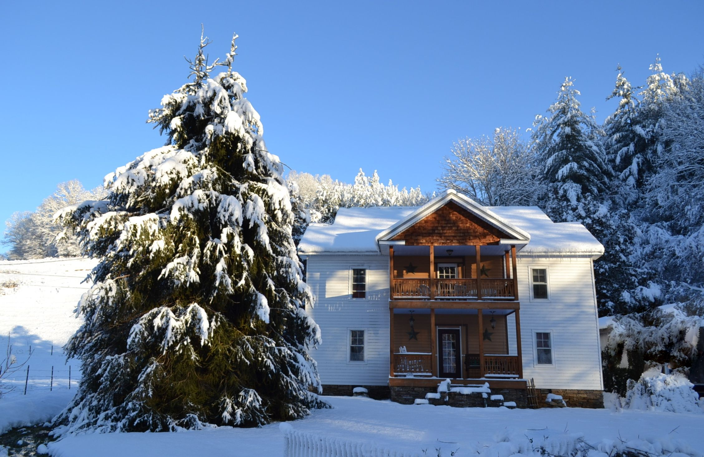 Snow in 2013 - this is magnificent.  Home in the snow.