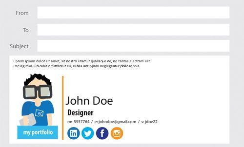 17 parasta ideaa Email Signature Generator Pinterestissä - email signature example