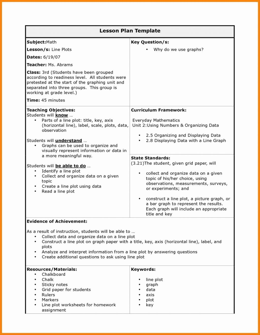 25 Florida Lesson Plan Template In