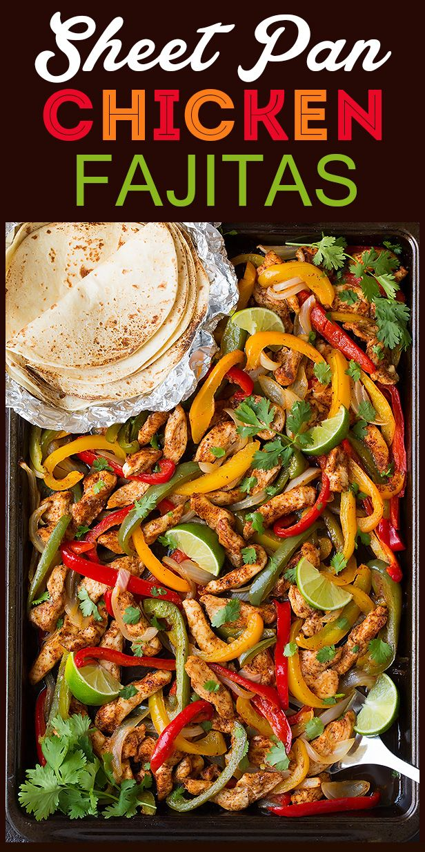 Sheet pan chicken fajitas cooking classy miam p pinterest mexican food recipes forumfinder Choice Image