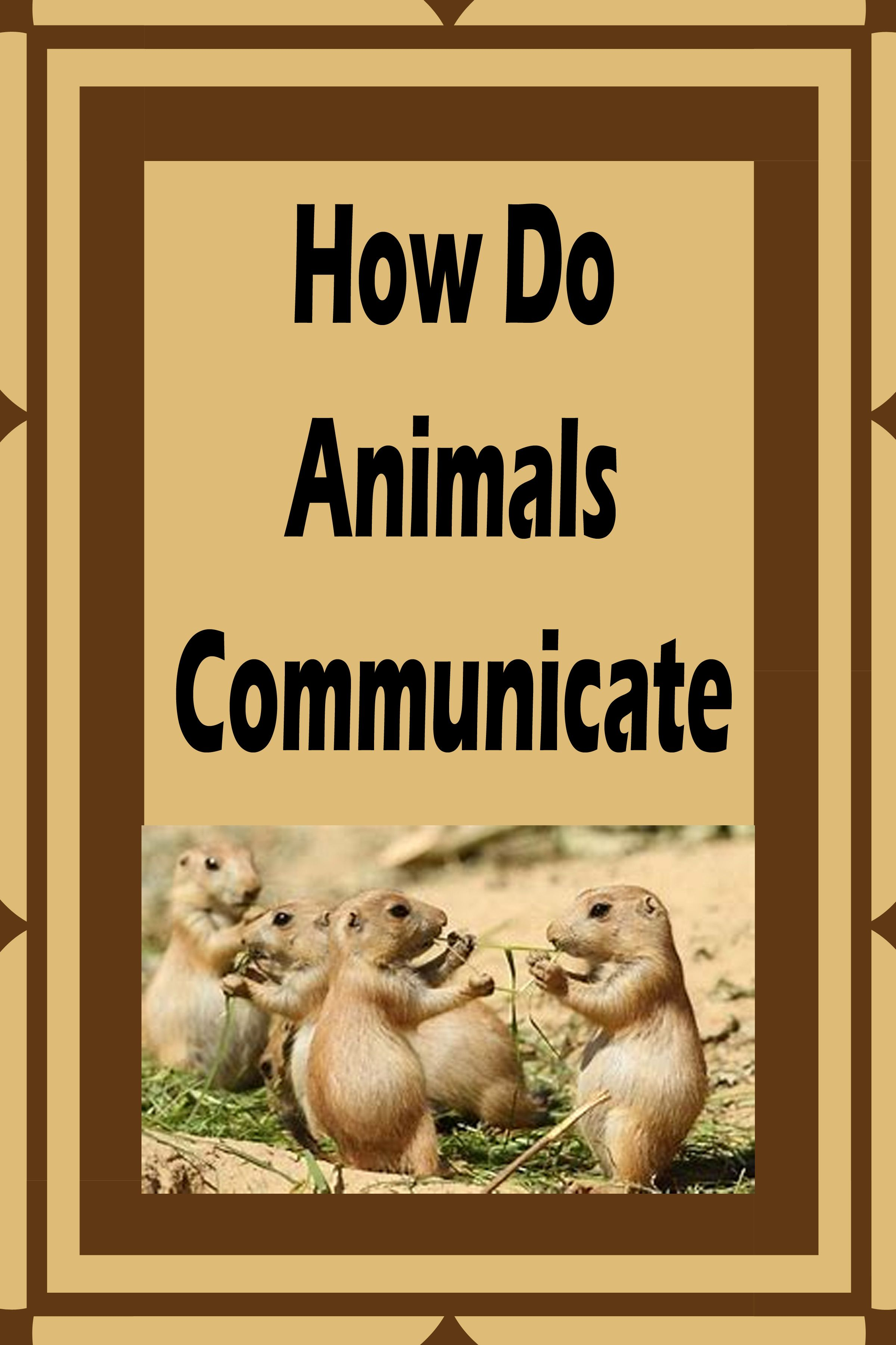 Communication Skills Of Wild Animals Wildlife Education Animal Communication Animals [ 3600 x 2400 Pixel ]