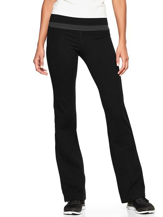 8ff993fc19954 GapFit gBalance cotton pants | Gap in true black, size small ankle ...