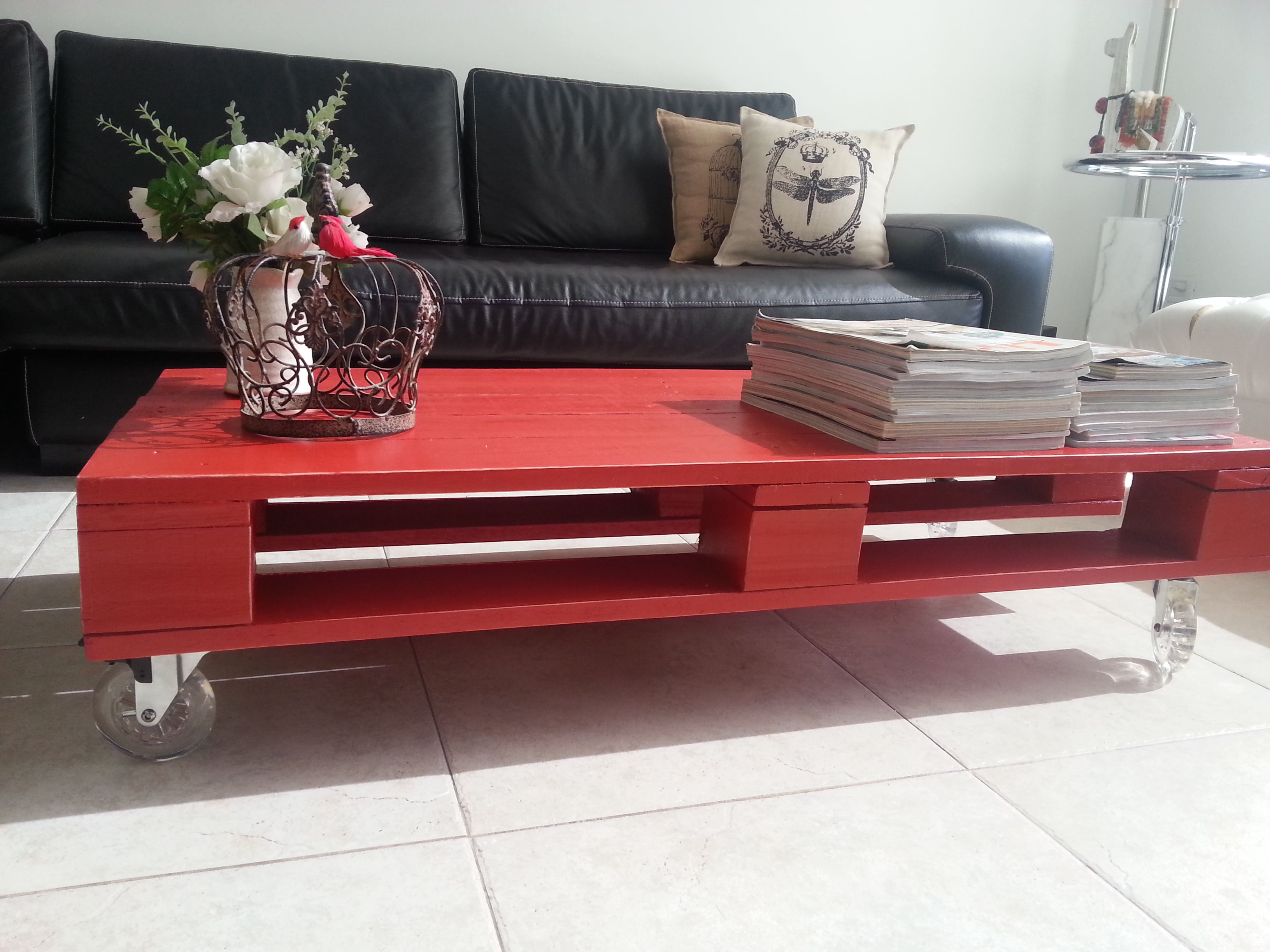 Mesas hechas con palets de madera latest podis construir - Mesas de palets ...
