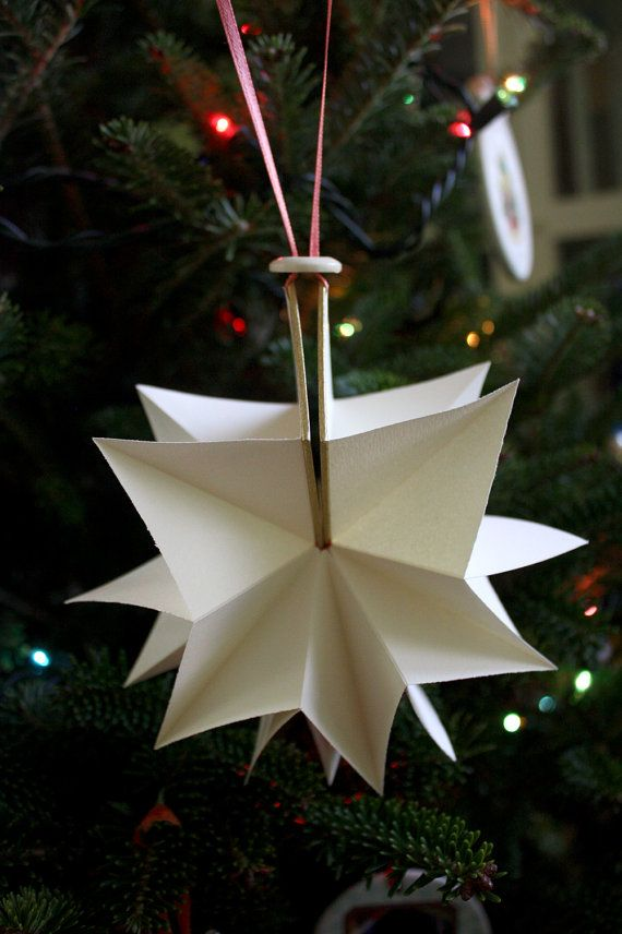 handmade book christmas tree ornament