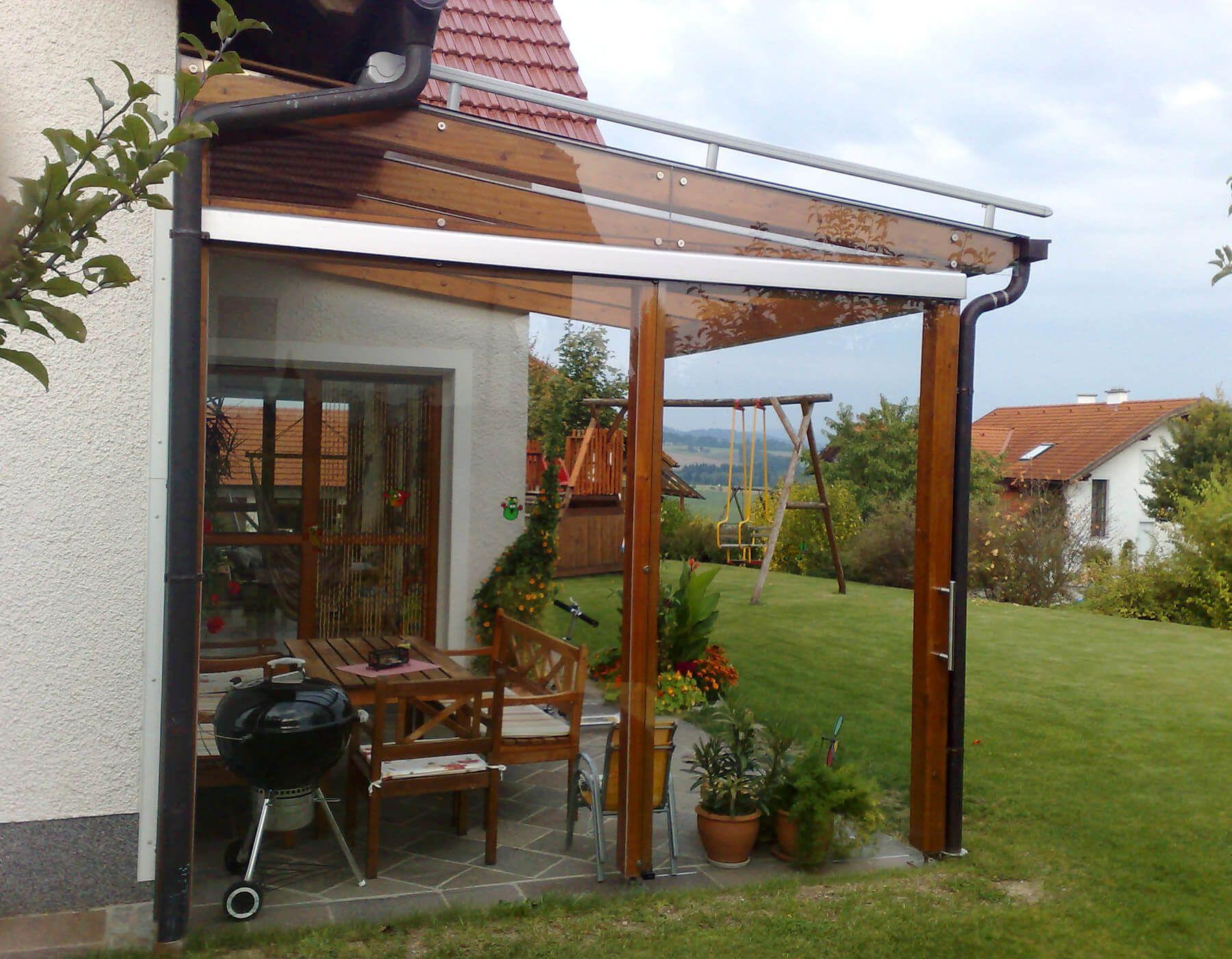 Pergola mit seitlichem Glas | Pinterest | Windschutz, Pergola und ...