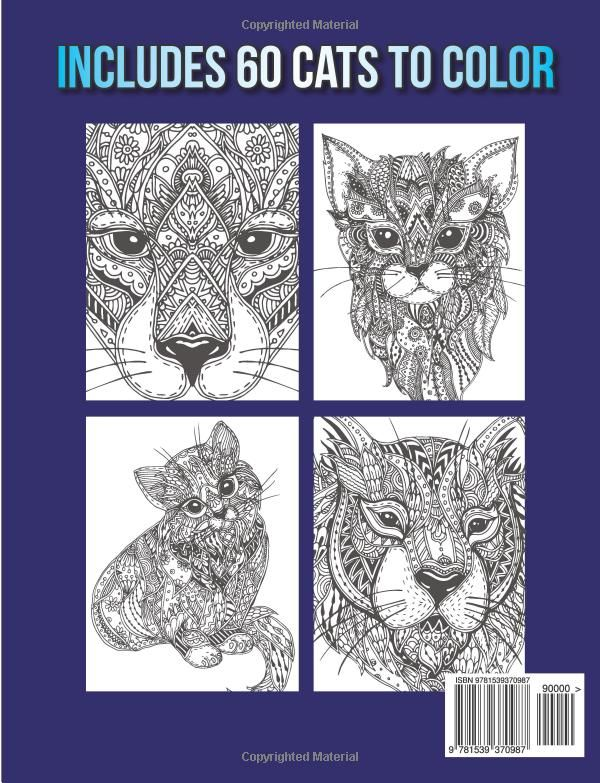 Amazon Kickass Cats An Adult Coloring Book With Jungle Adorable