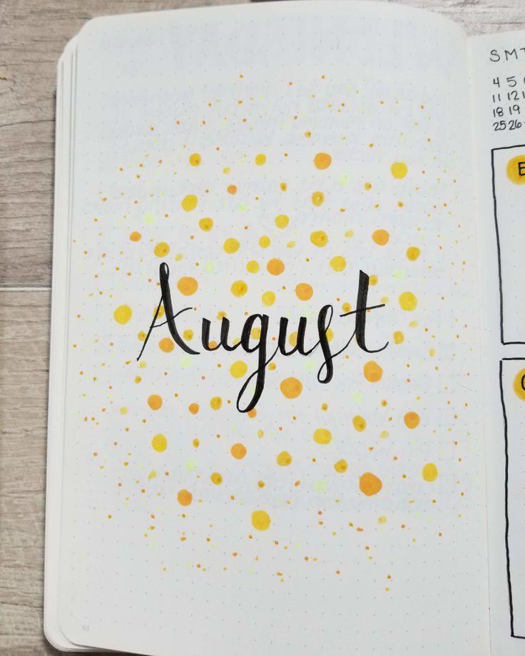 Bullet Journal Addict - August Bullet Journal Spread 2019