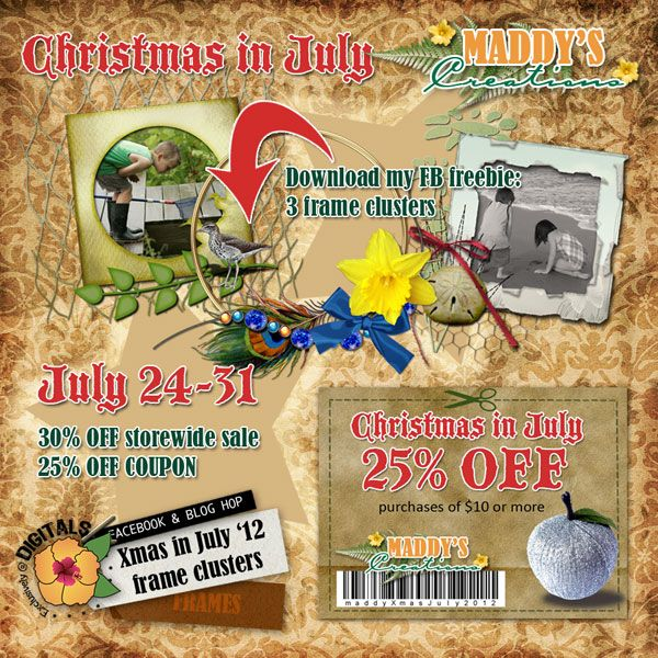 Digitals Christmas in July Facebook/Blog hop gift from Maddy's Creations